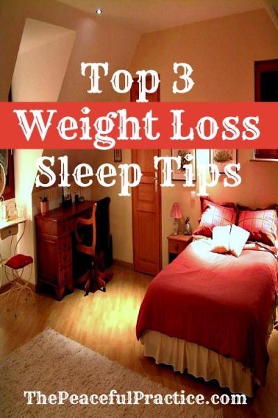 weight loss, sleep tips